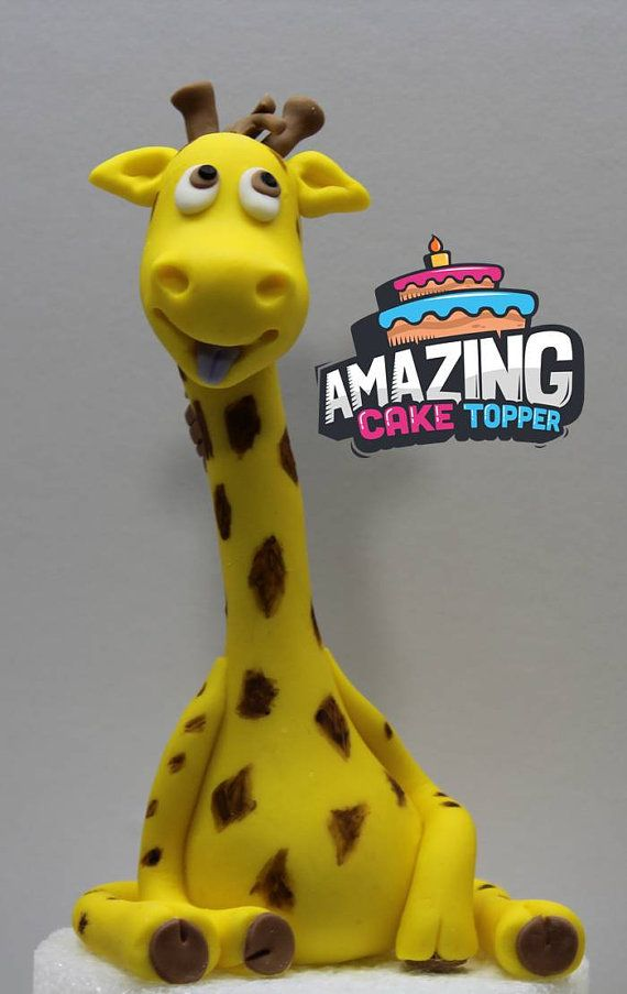 3D Giraffe Fondant Cake Topper. Ready to by AmazingCakeTopper1