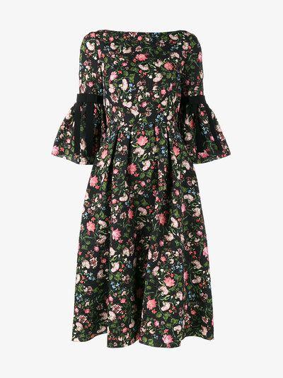 Aleena Floral Matelassé Dress