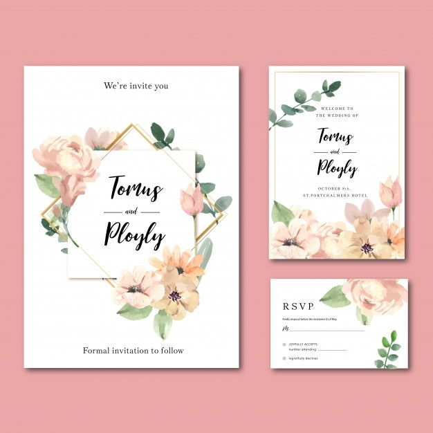 Download Happy Wedding Card Floral Garden Invitation Card Marriage