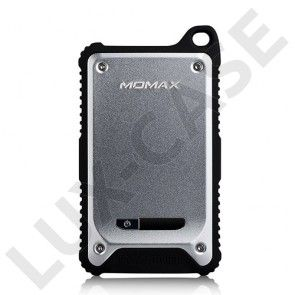 MOMAX (Sølv) Dual USB Tough & Waterproof Power Bank til Smartphones
