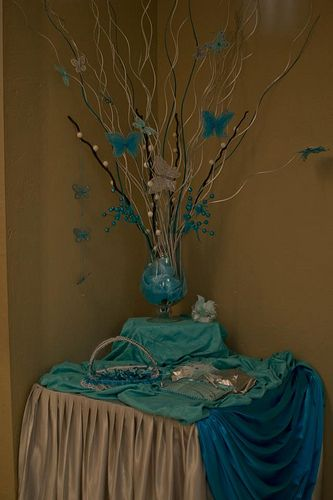 quinceanera reception houston texas butterflies turquoise 15 by Rincon Real Reception Hall, via Flickr