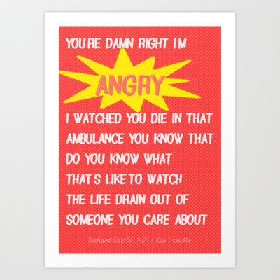 Castle (TV Show) Quotes | Richard Castle Art Print by Sandi Panda - $15.00