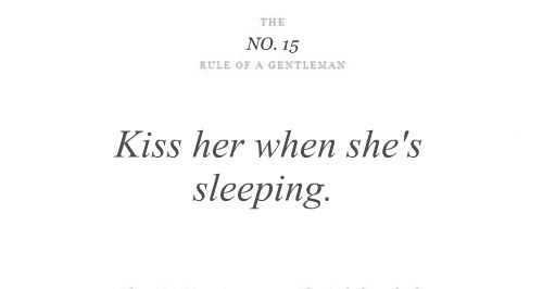 The Rules of a Gentleman No. 15