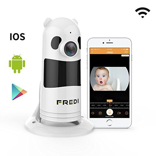 FREDI Baby Monitor Wireless WIFI IP Surveillance Camera 1080P HD Security Camera With Two-Way TalkingInfrared Night VisionP2P Wps Ir-Cut Nanny Camera Motion Detection Loop recording(Without SD Card)
