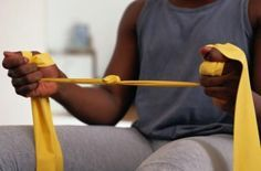 Therapy Band Exercises For Elderly People | LIVESTRONG.COM