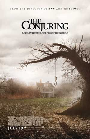 this movie 'the conjuring' is a horror film and the poster has used the imagery to tell the story, people think the tree the is the main part of the film but then again other people can think the house is, the colors are really glum and washed out to give it a grungy look