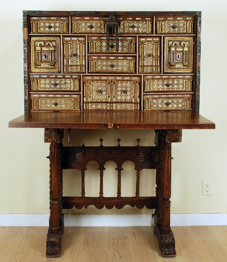 A stunning late 16th century Spanish fall front vargueno with elaborate  iron hardware mounted over English - 8 Best Spanish Vargenos - Bargueños Españoles Images On Pinterest