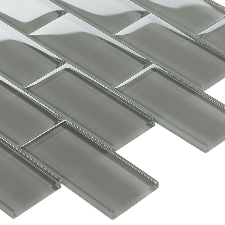 Subway Glass Tile Smoke Grey 2x4 is suitable for bathroom walls, shower, kitchen backsplash, swimming pool, and featured wall.