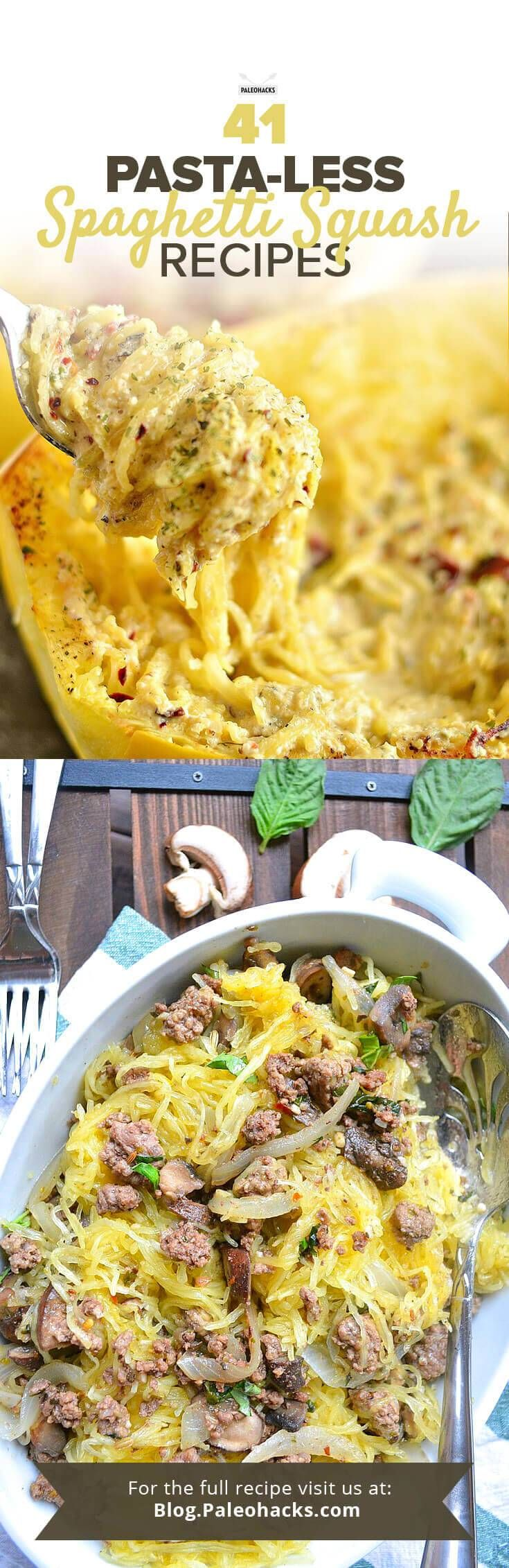 Dear pasta lovers, fret not: there's plenty of Paleo substitutes for pasta – one of the tastiest being spaghetti squash. Easily roasted and then scraped with a fork, spaghetti squash is rich in flavor and nutrition and, yep, tastes pretty close to its namesake pasta cousin. Get the recipe here: http://paleo.co/spagsquashrcps