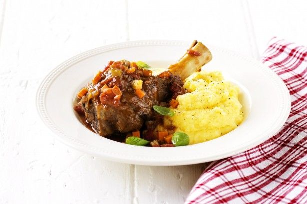 Let us give shanks - in a tender, rich stew to have now or freeze for later.