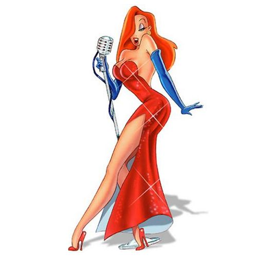 Jessica Rabbit is Roger Rabbit's human Toon wife in Disney/Touchstone's 1988 hybrid film Who Framed Roger Rabbit. In the book, she was an amoral up-and-coming star and former comic character, over whom her estranged husband, comic strip star Roger Rabbit, obsessed.
