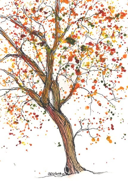 tree watercolor for my love affair with anything tree or leaf #putdownyourphone #art #stunning #amazing #culture #artist #idea