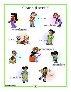 Italian Emotions Poster - Italian, French and Spanish Language Teaching Posters | Second Story Press