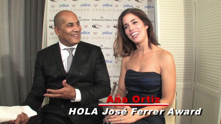 Host Chris Rivaro & Jose Ferrer Award Winner Ana Ortiz