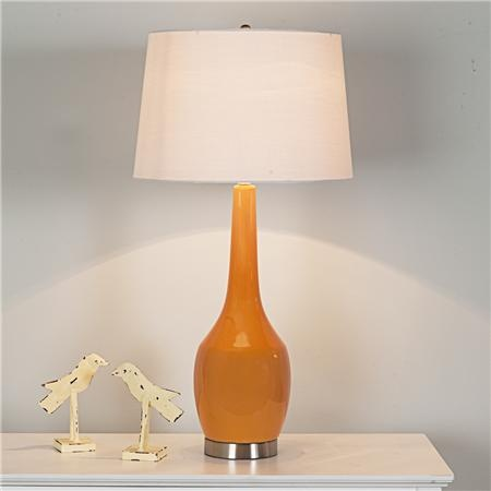 long neck ceramic table lamp