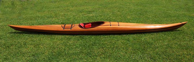 CaptJimsCargo - Cedar Wood Strip Built Hudson Surf Kayak 18' Woodenboat USA, (http://www.captjimscargo.com/full-size-canoes-kayaks/cedar-wood-strip-built-hudson-surf-kayak-18-woodenboat-usa/)