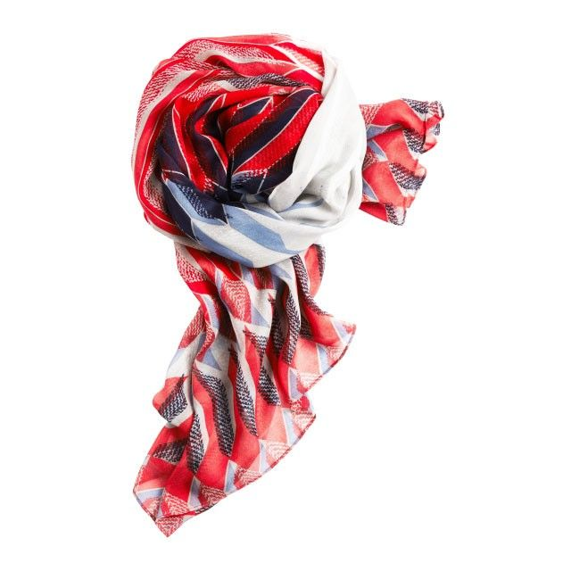 Sandwich Clothing Abstract Print Scarf Red