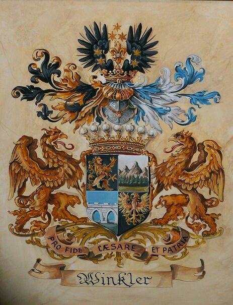 Wappen der Freiherren von Winkler - Familienwappen von Winkler / Coat of Arms of The Family von Winkler - Barons von Winkler / Armas de los Barones von Winkler