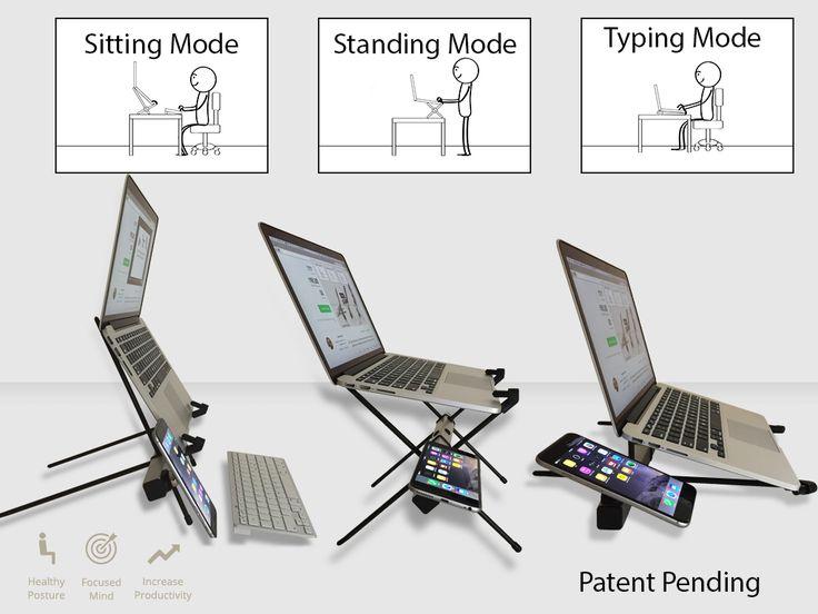 X STAND: Ergonomic, Multi-functional Laptop and Tablet Stand  Kickstarter #gadgets #tech