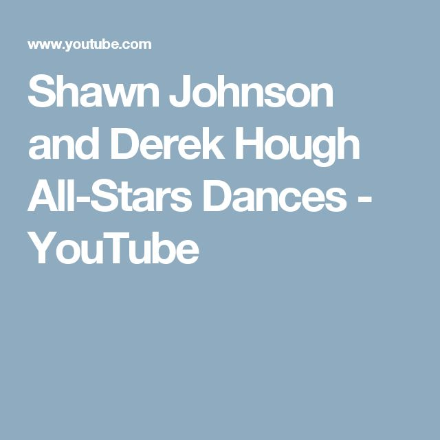 Shawn Johnson and Derek Hough All-Stars Dances - YouTube
