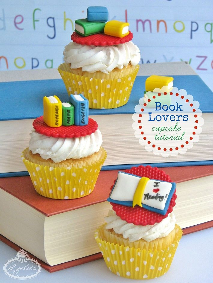 Whether you are a devoted book lover or are preparing to go back to school, exercise both your mind and taste palate with these sweet book cupcakes!