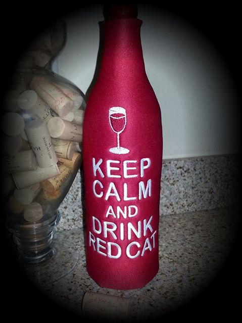 Love Red Cat?  Then you'll love this Koozie made especially for Red Cat Wine!  To Order yours, visit me on Facebook!  www.facebook.com/ohsosassysewtique