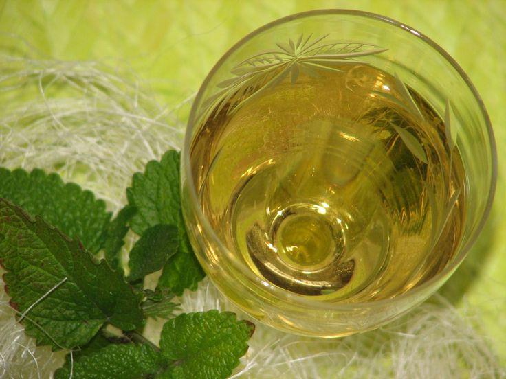 Przepis na melisowe wino. Liście melisy opłukać i osuszyć. Następnie przełożyć do czystego i suchego słoika. Zalać wytrawnym białym winem. Wymieszać, zakręcić i macerować przez 7 dni.