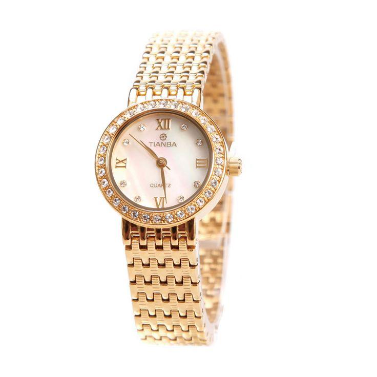 Темп Таблица Tianba женская форма алмаза ретро золотые часы водонепроницаемые кварцевые часы TL2015 элегантной моды женские формы - Taobao