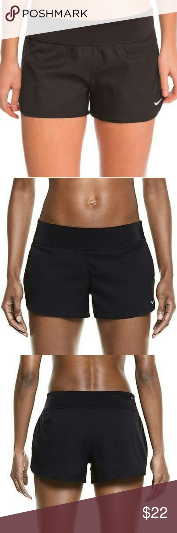 Nwt Nike swim shorts This is a new pair of Nike swim shorts for women available in size large and extra-large . I only have color black left at this time. Nike Swim
