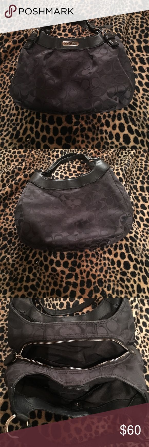 Authentic Black Coach Purse Gently used Gently used authentic black coach purse still has lots of life in it no noticeable blemishes leather has no breaks the inside is very clean. Coach Bags Shoulder Bags