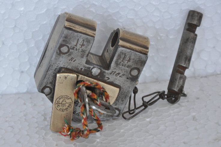 2 key slide bar lock