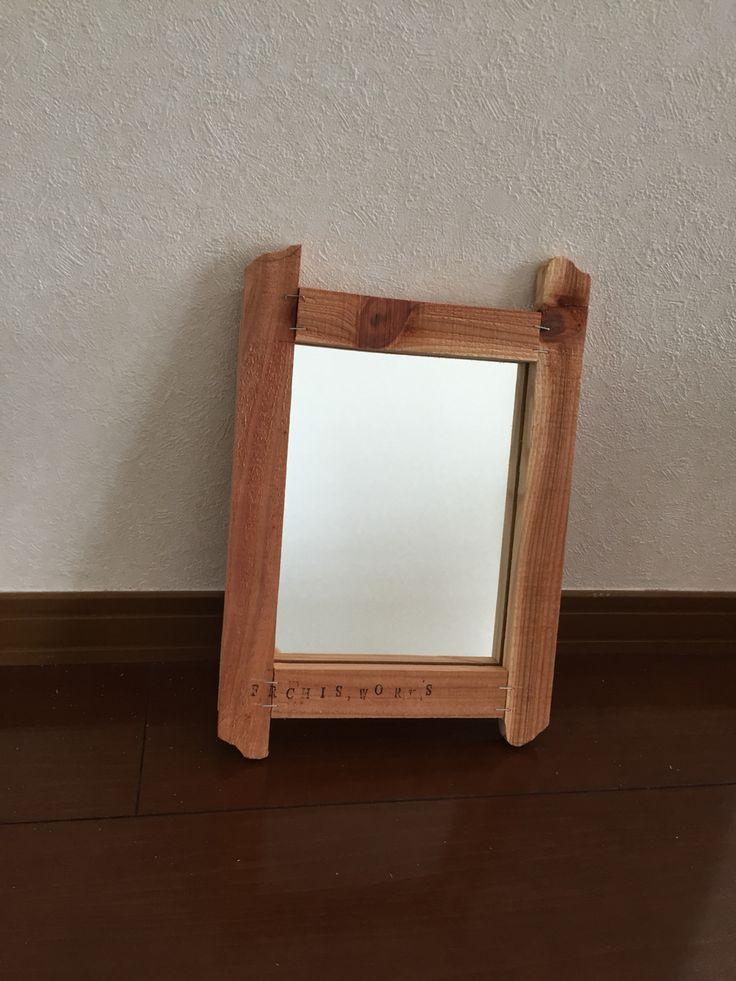 古材フレーム/鏡1