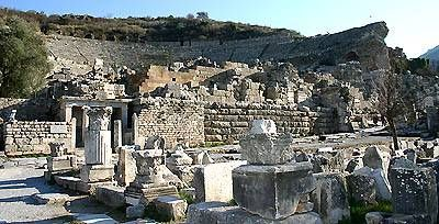 The ruins of the Temple of Artemis at Ephesus - one of the 7 wonders of the ancient world - Turkey, October, 2000