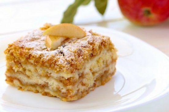 Už nebudu dělat jablečný štrůdl, ale pouze tento jablečný koláč, který se štrůdlu nevyrovná.