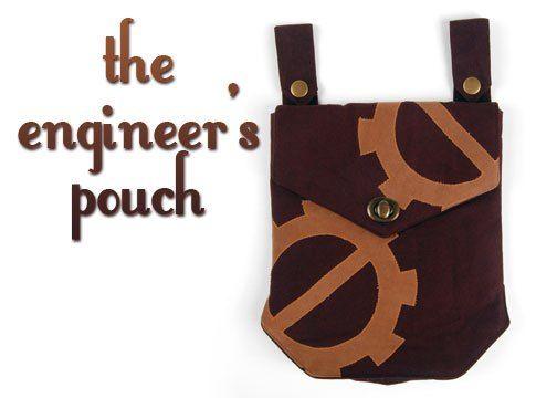 Free Tutorial: A handy belt pouch with a steampunk twist! #diy #sewing