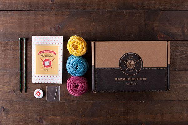 Learn to Knit Club, Level 1: Dishcloths - Bloom  *Afflink*