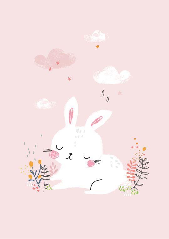 Beautiful bunny illustration.