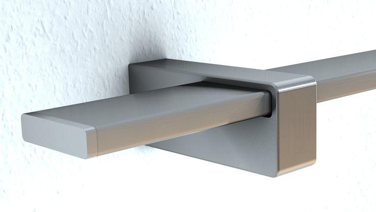 Edelstahl Wand-Handlauf, Rechteckiges Design, Verdeckte...