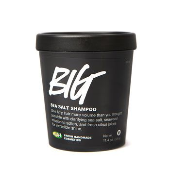 Over half the base of Big shampoo is made with sea salt, giving massive volume to hair in need of a boost. Sea salt is also full of minerals and de-greases hair, removing dead skin cells and dirt without stripping natural oils for a fresh, squeaky clean feeling. We balance the sea salt with seaweed infusion, extra virgin coconut oil and avocado butter for soft, nourished locks. Finally, fresh citrus juices are squeezed in for incredible shine. It's no wonder this one is a best-seller!