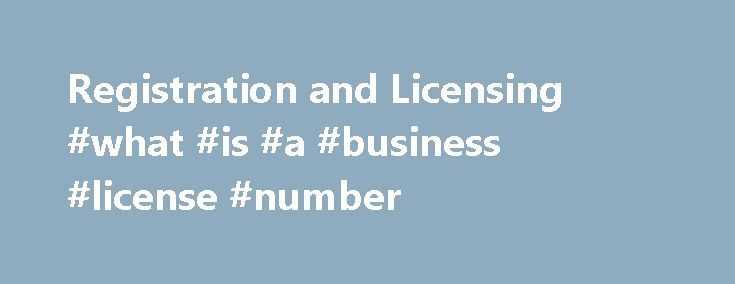 Registration and Licensing #what #is #a #business #license #number http://kenya.nef2.com/registration-and-licensing-what-is-a-business-license-number/  Registration and Licensing If you are subject to the business tax, you must register to pay the tax. This application can be submitted electronically using the Department of Revenue s Online Tax Registration page. The state administered business tax is a tax based upon business gross receipts, which is due annually. Your business tax due date…
