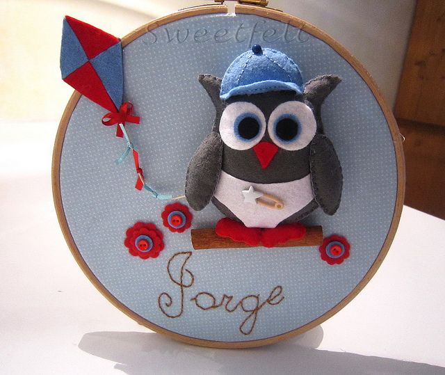 ♥♥♥  El búho de Jorge!!! by sweetfelt \ ideias em feltro, via Flickr
