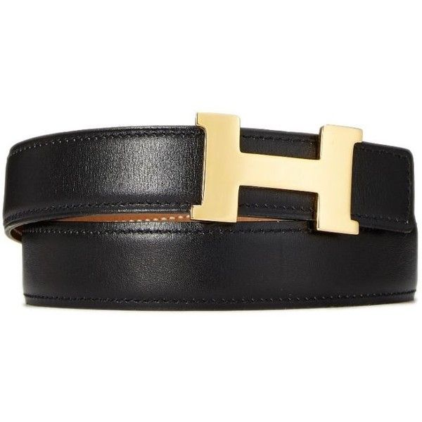 Constance H Belt Buckle Reversible Leather Strap (7.085 NOK) ❤ liked on Polyvore featuring accessories, belts, reversible belt, buckle belt and leather strap belt