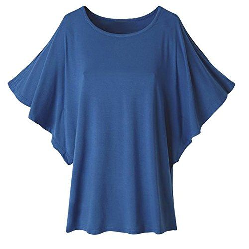 Meaneor Women Batwing Sleeve Cut Out Shoulder Loose Soild Tops Casual T Shirts Navy Blue L Meaneor http://www.amazon.com/dp/B00ZI0Q6IW/ref=cm_sw_r_pi_dp_IUzYvb08SZ3D7