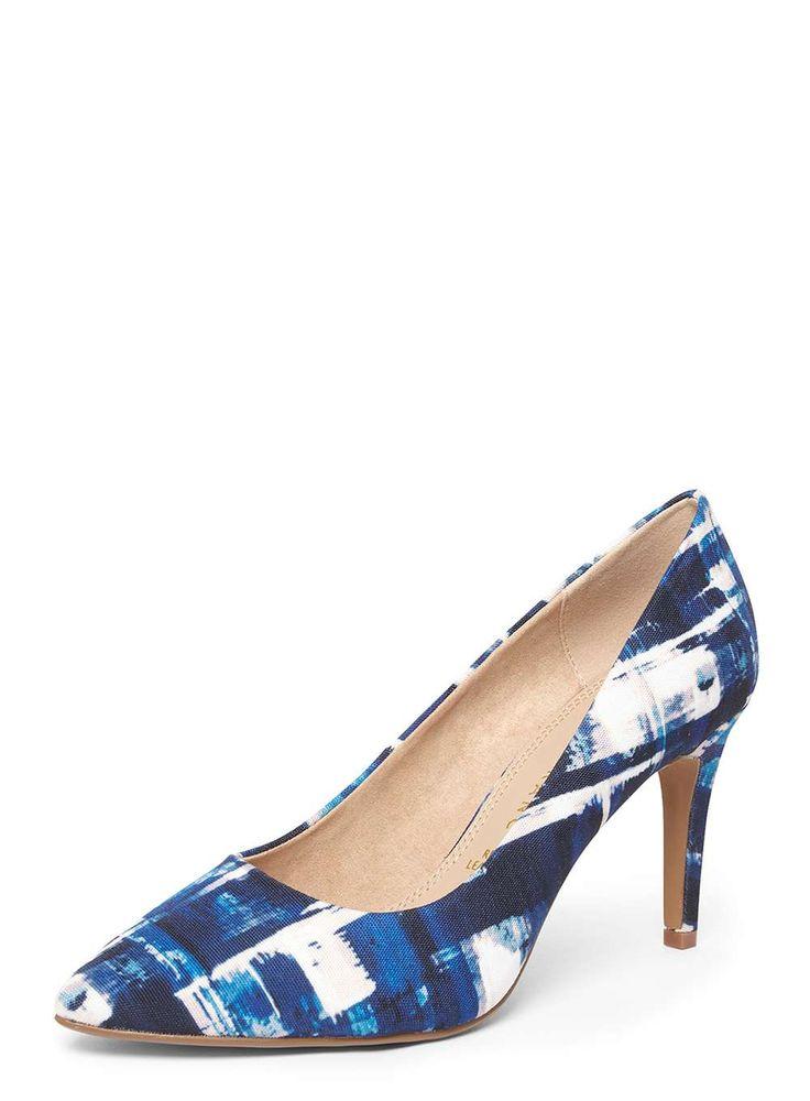 Womens **Lily & Franc Blue 'Josie' Court Shoes- Black