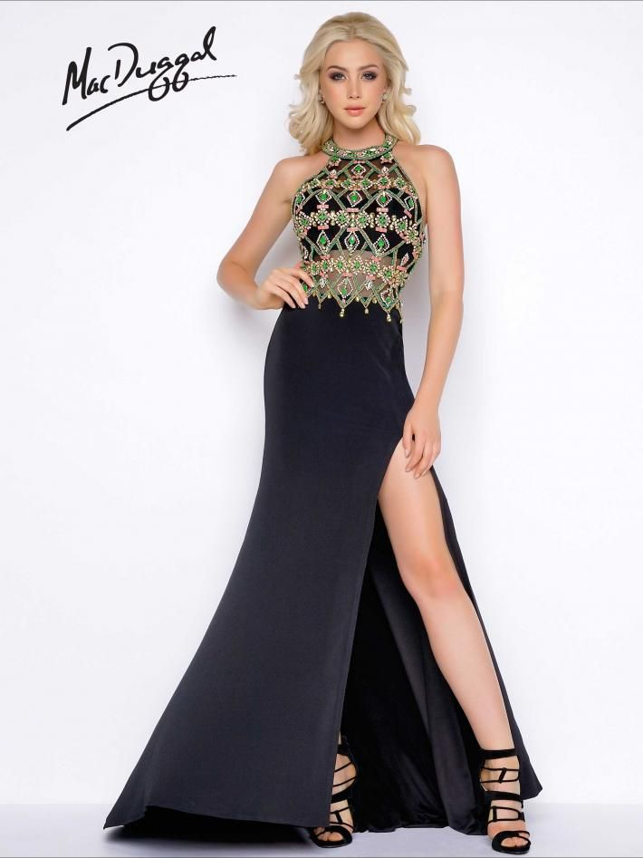 Black Fabric Prom Dresses