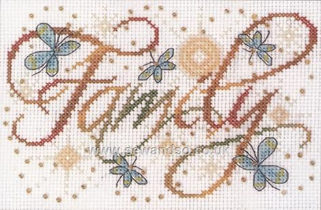 Buy Family Cross Stitch Kit Online at www.sewandso.co.uk