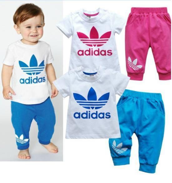 Unisex Child Pants+suitsNew 2014 summer short sleeve clothes pants suits girls clothing sets boy suit kids clothes sets $6.59 - 7.89