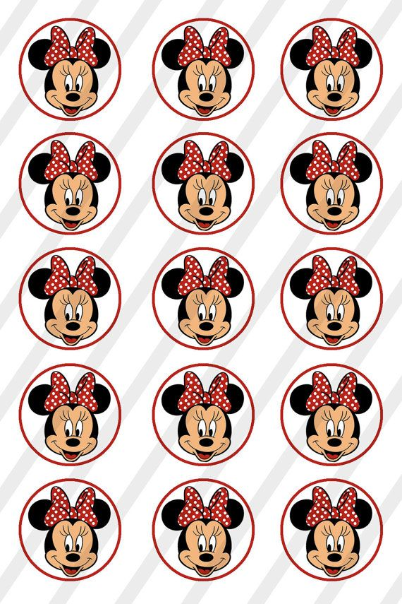 INSTANT DOWNLOAD Minnie 4x6 Bottle Cap Images Digital Collage Sheet for bottlecaps 1in