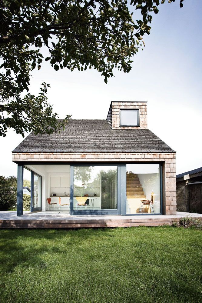 What a fun space bringing the outdoors in - great renovation idea for a Cape home