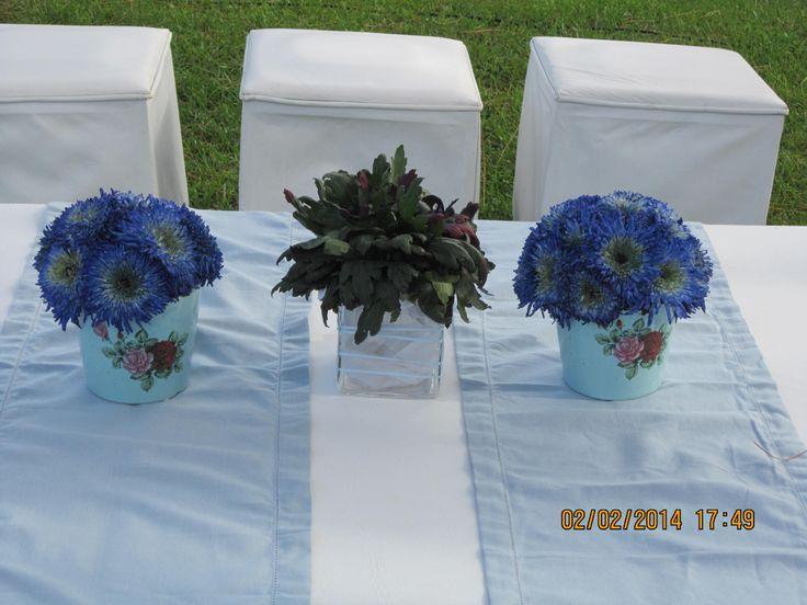 Topiarios con flores naturales
